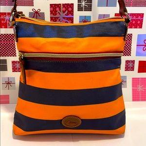 GentlyUsed Dooney& Bourke Orange Stripe Nylon Bag